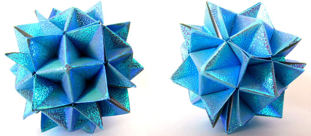 Modular Origami - balls and polyhedra folded by Michał Kosmulski   448x1024