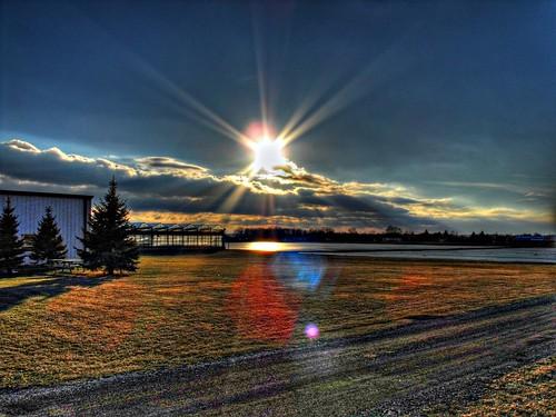 sunset sky sun ontario canada reflection clouds rural samsung niagara master stcatharines sunrays legacy hdr picnik hypothetical lensflares photomatix tonemapping artdigital spectacularsunsetsandsunrises samsungmaster fujifilmfinepixs1500