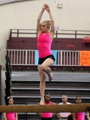 TWU Gymnastics Beam - Brittany Johnson