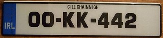 IRELAND, COUNTY KILKENNY 2000 ---LICENSE PLATE