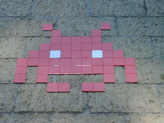 Space Invaders, Valle Giulia, Roma.
