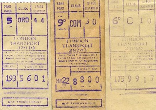 LT Gibson machine bus Tickets, 1969 -1971.  Romford area
