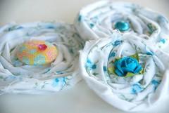 Blue Shabby Flower Embellies