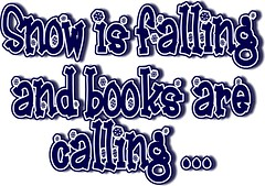 Snow is Falling and Books are Calling (navy blue)