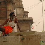 Looking Out Over the Ganges River - Varanasi, India
