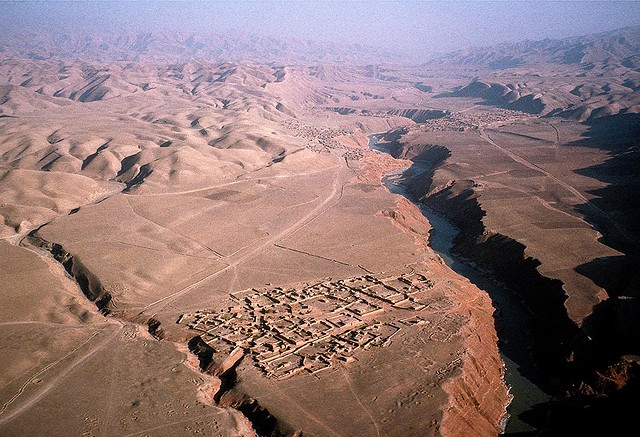 Aerial view of the North of Afghanistan, by Stehen DuPont 1998