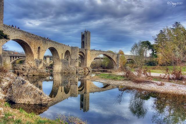 Puente Besalú (IV) from Flickr via Wylio