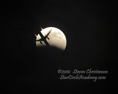 Airplane Transits the Partially Eclipsed Moon