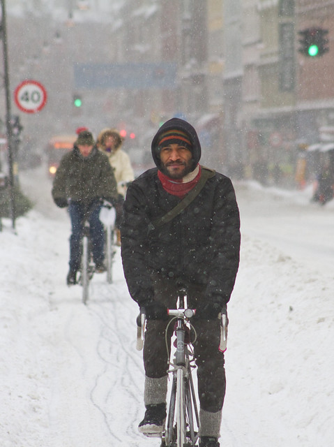 Snowstorm Calm and Cool - Winter Cycling in Copenhagen