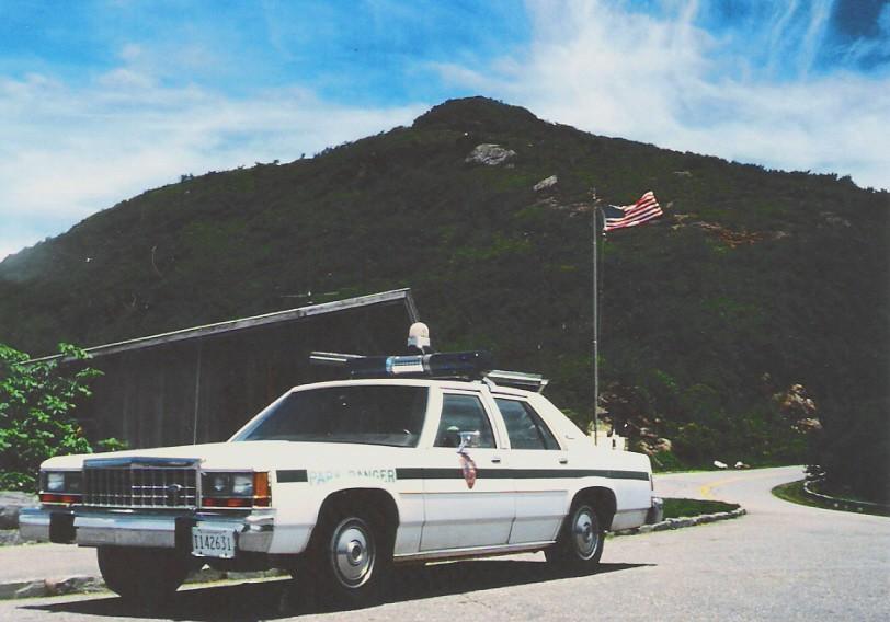 US Park Ranger at Craggy Gardens visitor center, Blue Ridge Parkway