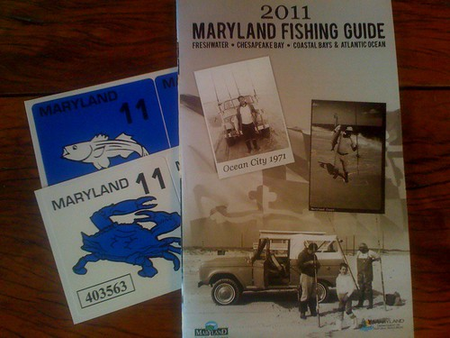 December 2010 backwater angler for Md fishing license