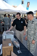 Army leadership tours Tech Zone