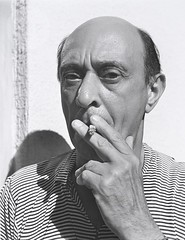 Arnold Schoenberg, Composer, Smoking, by John Gutmann 1935
