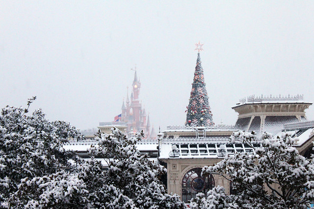 View of Main Street in the snow, from Inventions