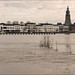 Cityscape Zutphen during floods