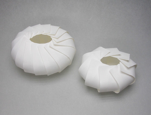 ellipsoids, paper, origami, 3d, Jun Mitani, japan
