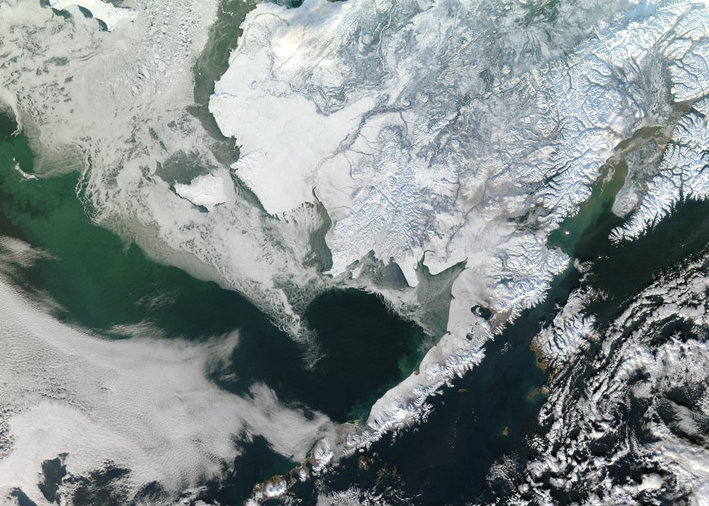 NASA Satellite Captures Snow Covered Alaska   Flickr ...