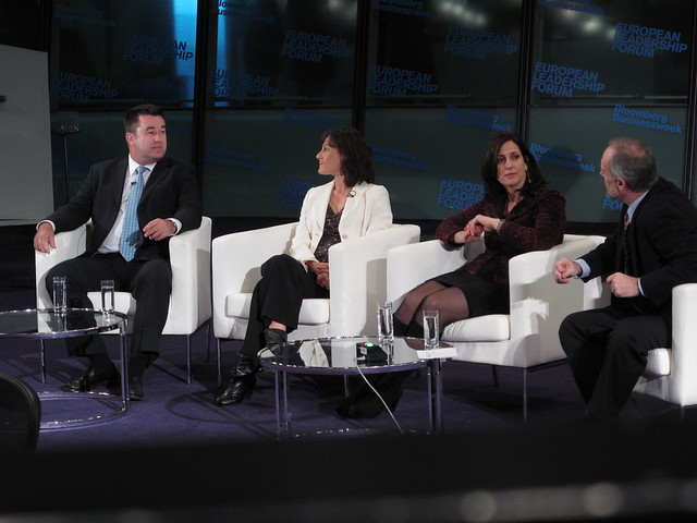 Adolfo Hernandez, EVP and President, EMEA Region, Alcatel-Lucent  Val Rahmani, Chief Executive Officer, Damballa Joanna Shields, Vice President, EMEA, Facebook  Interviewed by Andy Reinhardt, European Editor, Bloomberg.com & Europe/Global Editor, Business
