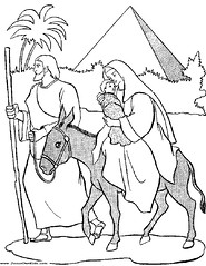 40c1. Matthew - Mary and Joseph flight into egypt with baby Jesus www.JesusOwnKids.com