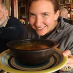 Tasty Bowl of Tomato Soup in Quellon, Chiloe - Chile