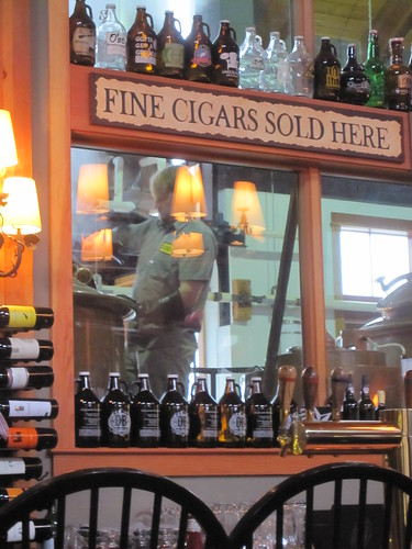 Fine cigars, growlers, brewer
