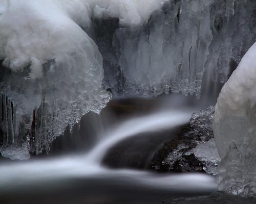 longexposure snow ice water waterfall nc northcarolina cascade ncmountains roaringforkfalls davidhopkinsphotography yanceycountyhdr ncpedia
