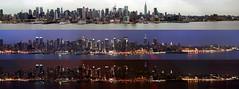 Manhattan skyline compilation from Hamilton Park, Weehawken