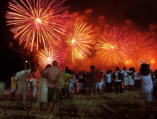Copacabana 2011, Orange Fireworks
