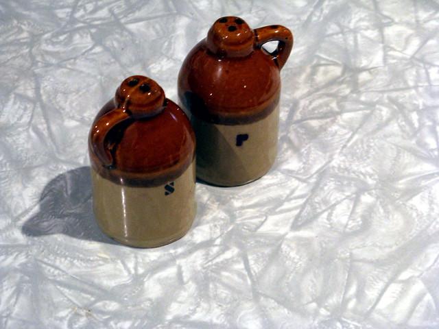 Vintage Hillbilly Jug (Moonshine) Salt and Pepper Shakers - Made in Japan