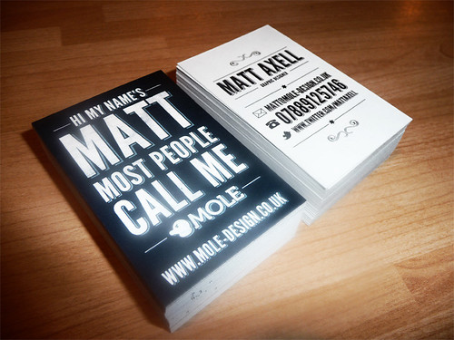 Business Cards by mattaxell