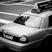 NYC yellow cab in black & white
