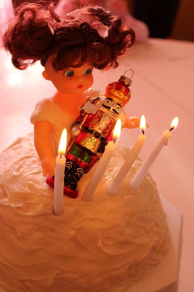 clara + nutcracker cake