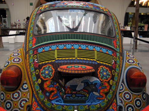 Beaded VW beetle