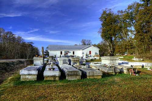 Church & Cemetary on LA115 near Bunkie, Louisiana by finchlake2000