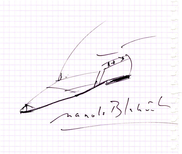 Original Sketch by Manolo Blahnik