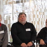 Donald Knuth, Steve Wozniak, and Max Mathews