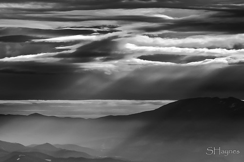 winter bw mountains clouds tn tennessee roanmt