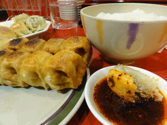 ホワイト餃子(White Dumpling) & Rice