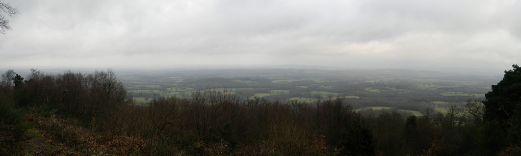 View from the temple of the four winds Haslemere Round walk
