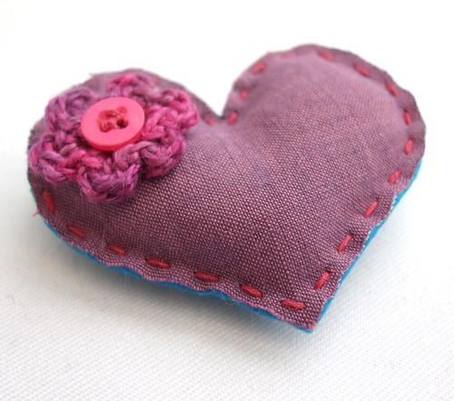 Flowery Sweetheart Brooch
