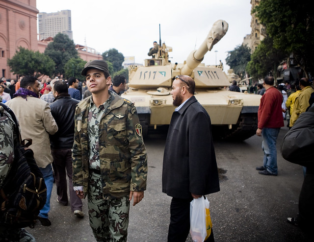 The Army Special Forces in Tahrir Square ???? ???????