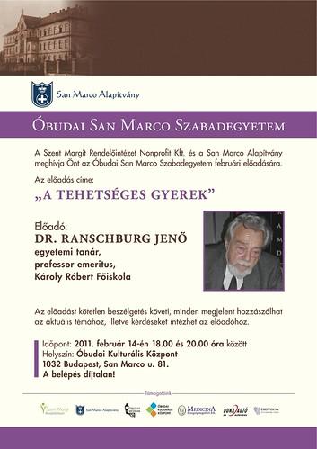 San Marco Szabadegyetem: Dr. Ranschburg Jenő