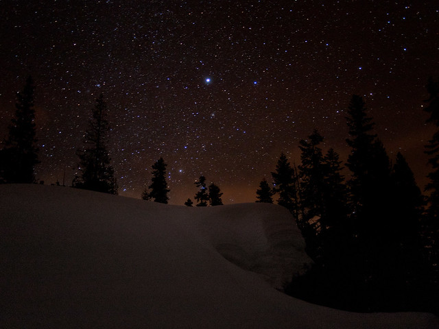 Night Sky in Winter, Tahoe National Forest, California