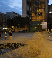 Barbed Wire at Entrance of Tahrir Square
