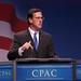 Rick Santorum on stage at CPAC 2011