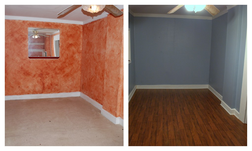 Before and After: basement bedroom