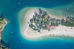 sea, ocean, bay, island, caribbean, artificial island, aerial photography, coast,