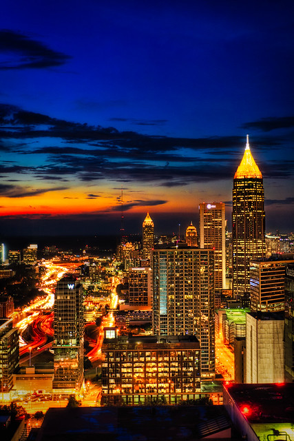 sunset over atlanta flickr photo sharing. Black Bedroom Furniture Sets. Home Design Ideas