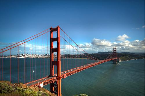 Golden Gate Bridge and City