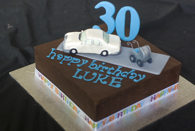 30th birthday mercedes car cake flickr photo sharing for Mercedes benz birthday cake